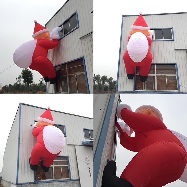 圣诞节装饰用品充气爬墙老人气模